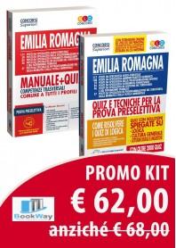 kit concorso regione emilia romagna - manuale + quiz e quiz tecniche per la prova preselettiva