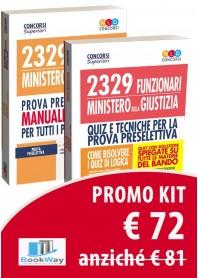 kit 2 volumi - 2329 funzionari ministero della giustizia - manuale completo + quiz