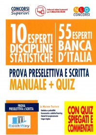 10 esperti discipline statistiche - 55 esperti banca d0italia