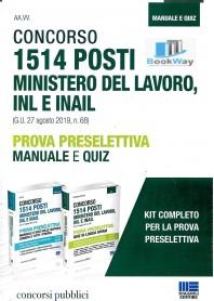 1514 posti ministero del lavoro inl e inail - prova preselettiva concorso