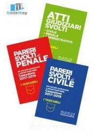 atti giudiziari svolti  - civile - penale - amministrativo pocket 2019