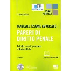 manuale esame avvocato. pareri di diritto penale - tutte le recenti pronunce a sezioni unite