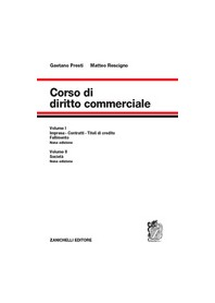 Corso di Diritto Commerciale Volume Unico di Presti, Rescigno