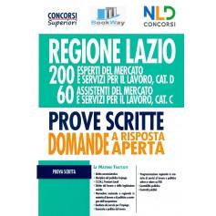 regione lazio 200 esperti e 60 assistenti del mercato e servizi per il lavoro categoria d e c. manuale per le prove scritte