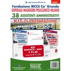 38 Assistenti Amministrativi Fondazione IRCCS Ca' Granda Ospedale Maggiore Policlinico Milano Kit