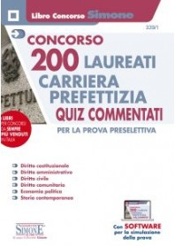 Concorso 200 Laureati Carriera Prefettizia Quiz Commentati Prova Preselettiva