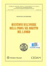 QUESTIONI SULL'ONERE DELLA PROVA NEL DIRITTO DEL LAVORO