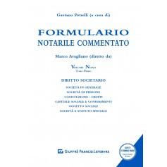 Formulario Notarile Commentato Volume IX Tomo I-II di Avagliano