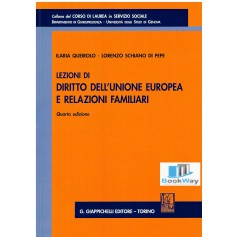 lezioni di diritto dell'unione europea e relazioni familiari