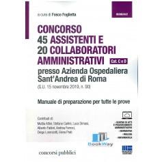 45 assistenti e 20 collaboratori amministrativi concorso cat. c e d  presso azienda ospedaliera sant'andrea di roma