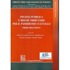 finanza pubblica e misure tributarie per il patrimonio culturale - prime riflessioni
