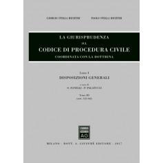 La Giurisprudenza sul Codice di Procedura Civile Libro I Tomo III di Stella Richter