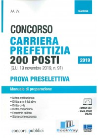concorso carriera prefettizia 200 posti - manuale 2019