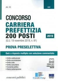 concorso carriera prefettizia 200 posti- quiz 2019
