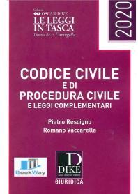 codice civile e codice procedura civile e leggi complementari pocket 2020