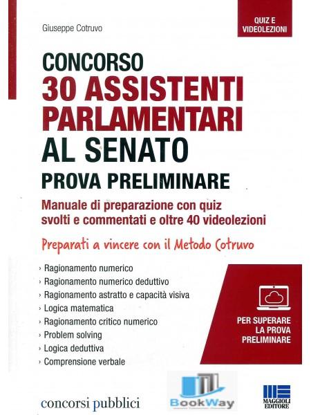 concorso 30 assistenti parlamentari al senatoprova preliminare