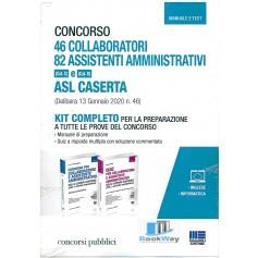 kit completo 46 collaboratori + 82 assistenti amministrativi asl caserta - cat. c e cat. d