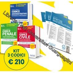 Offerte 3 Codici Magistratura 2020 NEL DIRITTO Prevendita Civile, Penale, Amministrativo + Omaggio Focus Magistratura