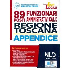89 funzionari amministrativi cat. d regione toscana - manuale completo + appendice