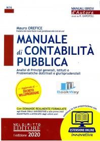 manuale di contabilita' - analisi di principi generali, istituti e problematiche dottrinali e giurisprudenziali - 2020