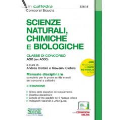 Scienze Naturali, Chimiche e Biologiche Classe A50 (ex A060)