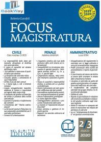 focus di magistratura  2-3 2020
