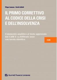Primo Correttivo al Codice della Crisi e dell'Insolvenza di Galletti, Lamanna
