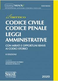 """""""Il Trittico"""" Codice Civile, Codice Penale e Leggi Amministrative Maxi di Di Pirro, Petrucci"""
