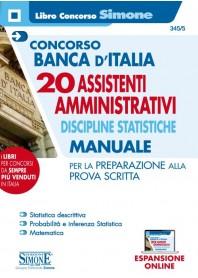 Concorso Banca d'Italia 20 Assistenti Amministrativi Discipline Statistiche Manuale