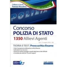 Concorso Polizia di Stato 1350 Allievi Agenti Manuale di Nissolino