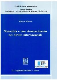 statualitÀ e non riconoscimento nel diritto internazionale