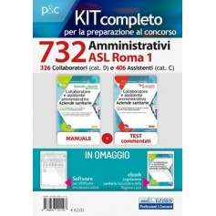 Concorso 732 Amministrativi Sanitari Roma 1 Kit