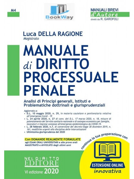 manuale di diritto processuale penale 2020