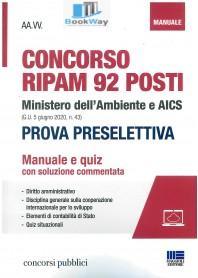 concorso ripam 92 posti ministero dell'ambiente e aics (g.u. 5 giugno 2020, n. 43) - prova preselettiva