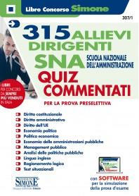 315 Allievi Dirigenti SNA Scuola Nazionale dell'Amministrazione Quiz Commentati Prova Preselettiva