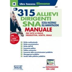 315 Allievi Dirigenti SNA Scuola Nazionale dell'Amministrazione Manuale