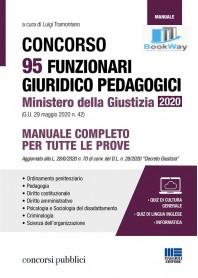 concorso 95 funzionari giuridico pedagogici ministero della giustizia 2020 (g.u. 29 maggio 2020 n. 42)