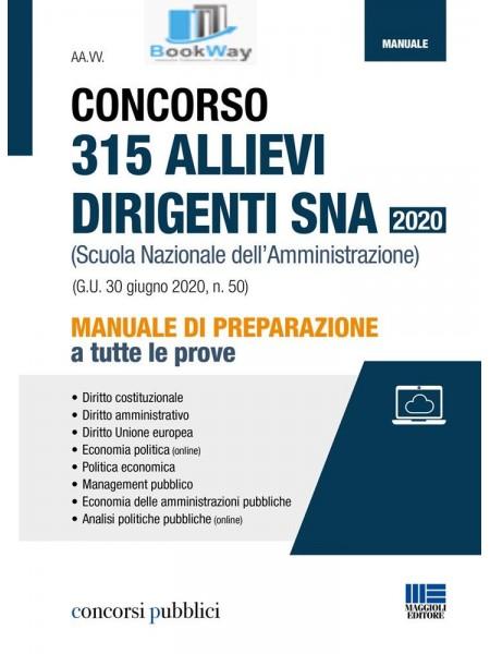 concorso 315 allievi dirigenti sna 2020 .