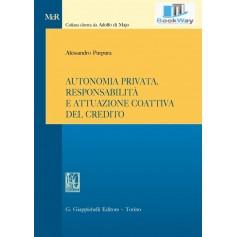 autonomia privata, responsabilitÀ e attuazione coattiva del credito