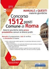 Concorso 1512 Comune di Roma Manuale e Quesiti sulle Materie Giuridiche
