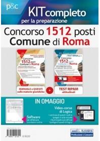 Concorso 1512 Comune di Roma Manuale Materie Giuridiche e Test Attitudinali Kit
