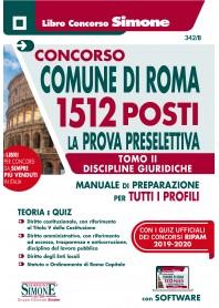Concorso Comune Roma 1512 Prova Preselettiva Discipline Giuridiche Tomo II