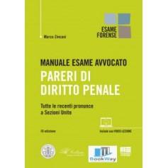 manuale esame avvocato - pareri di diritto penale