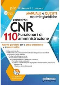 Concorso CNR 110 Funzionari di Amministrazione Materie Giuridiche