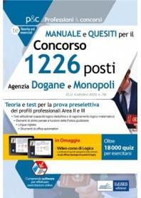 Concorso Agenzia Dogane e Monopoli Manuale e Quesiti Preselezione