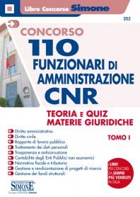 Concorso CNR 110 Funzionari di Amministrazione Teoria Quiz Materie Giuridiche Tomo I