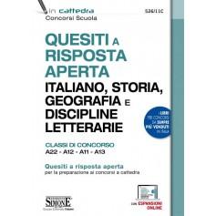 Quesiti a Risposta Aperta Italiano, Storia, Geografia e Discipline Letterarie