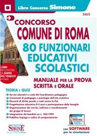Concorso Comune Roma 80 Funzionari Educativi Scolastici Manuale Prova Scritta e Orale