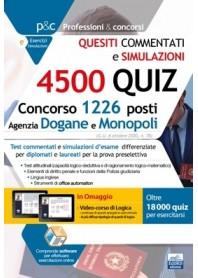 Concorso 1226 Posti Agenzia Dogane e Monopoli 4.500 Quiz