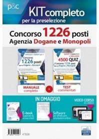 Concorso 1226 Posti Agenzia Dogane e Monopoli Kit